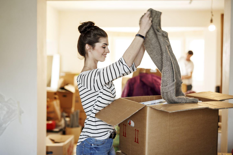 trier ses affaires lors d'un déménagement